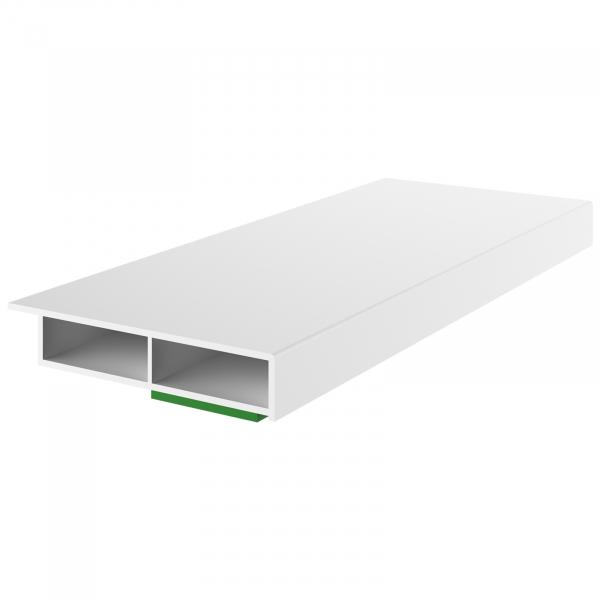Deckleiste - Fensterleiste Weiß Breite 30mm - 50mm - Länge 1950mm - 2,51€ /m
