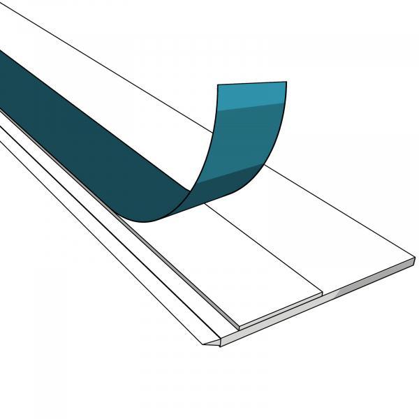 20mm-80mm Fensterleiste / Flachleiste selbstklebend MIT Lippe Stärke 1,5mm