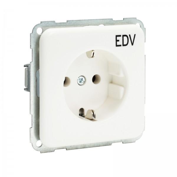 Presto-Vedder 7020SLEDVUW Regina Steckdose mit EDV-Aufdruck ultraweiss