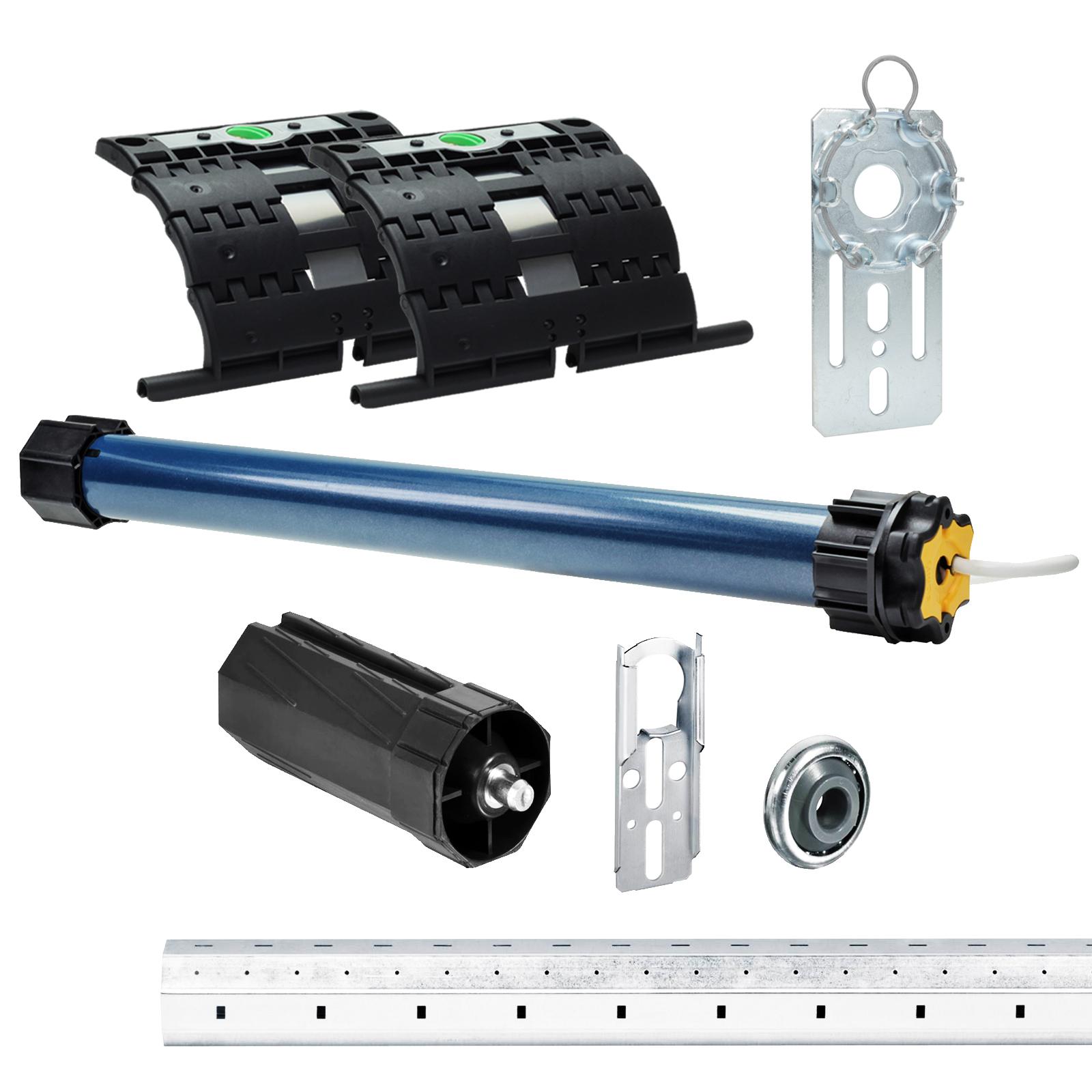 Anschlusskabel und SW 60 Adapter//Mitnehmer. Einbruchschutz durch 3 patentierte Hochschiebesicherungen inkl Somfy Rolladenmotor Ilmo 2 50 WT 30//17 Motorlager