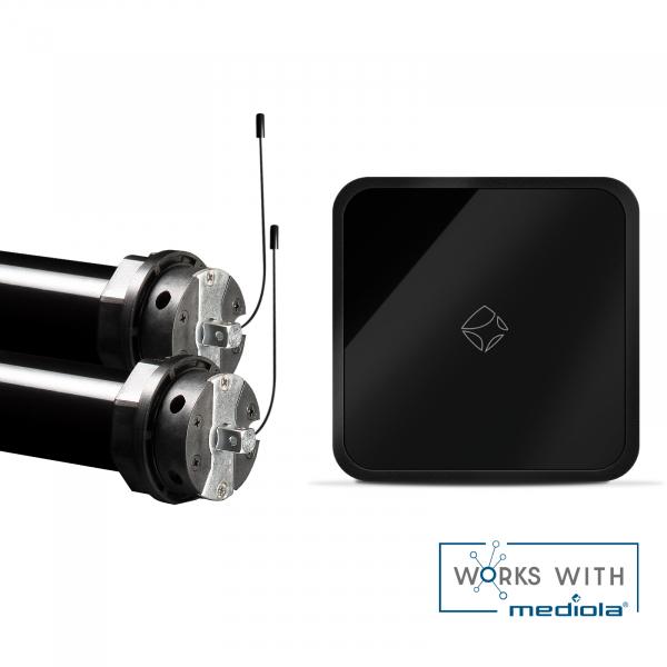 Mediola Smart Home Starterset Inkl. 2 x PRE5 20-15-60 Funkrolladenmotoren