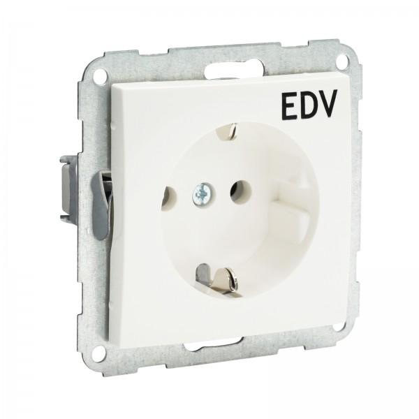 Presto-Vedder 3020SLEDVUW Fiorena Steckdose m. EDV-Druck ultraweiss