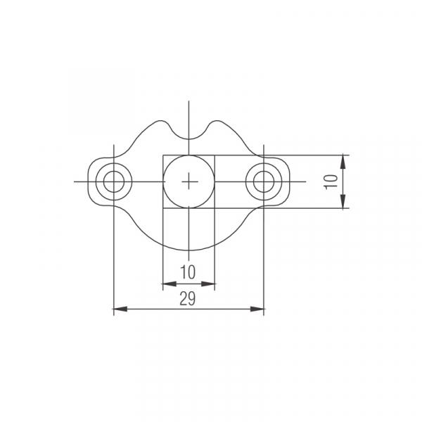 Profi-Line Vierkantlager 10x10mm