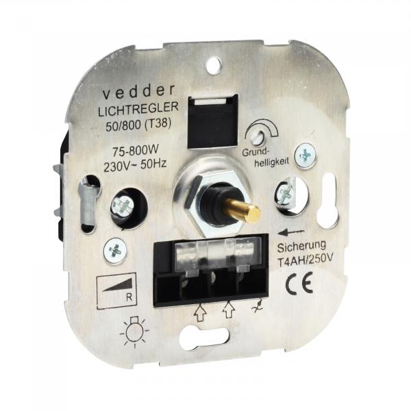 Presto-Vedder 50800 Dimmer 75-800W Druck-Wechselsch. Glüh-/Halogen