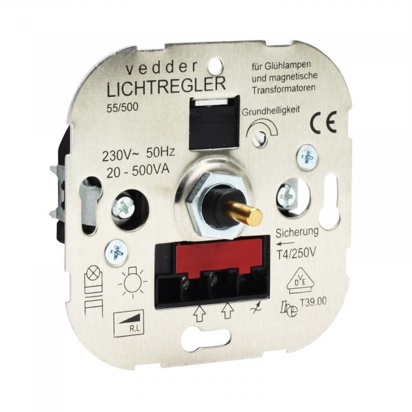 Presto-Vedder 55500 Dimmer 20-500W NV-gew. Trafo Druck-Wechselschalter