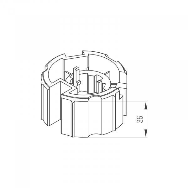 Profi-Line Adaptersatz 70mm RD-Welle