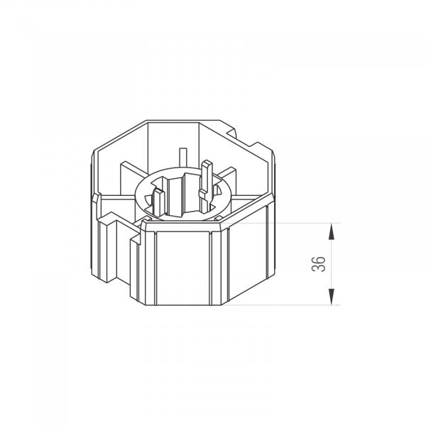 Profi-Line Adaptersatz 70mm AK-Welle