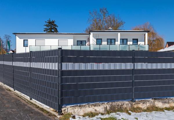 Zaunsichtschutz HART-PVC / Streifen 2,525 m / Höhe 19 cm